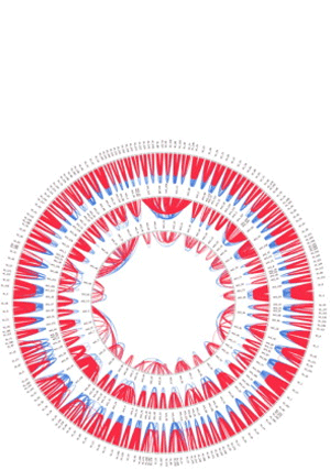 Circular genome visualization and data visualization with Circos: