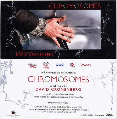 Illustrations created with Circos used in Chromosomes, an exhibition by David Cronenberg. (500 x 508)