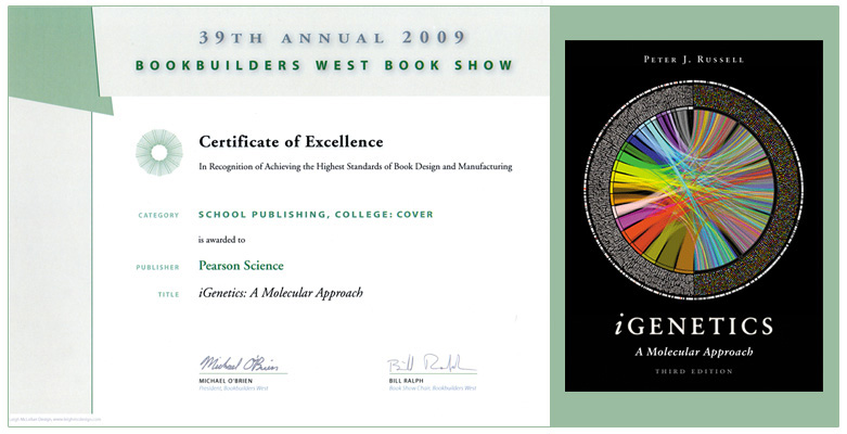Circos iGenetics book cover - recognized at the 39th annual Bookbuilders West Book Show (781 x 400)