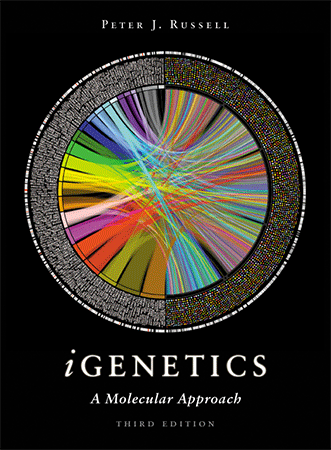 Circos book cover - iGenetics by Peter Russell, 3rd ed (331 x 450)