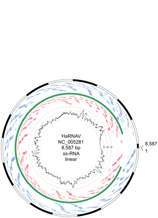 Circular genome visualization and data visualization with Circos: The sensitivity of massively parallel sequencing for detecting candidate infectious agents associated with human tissue (310 x 427)